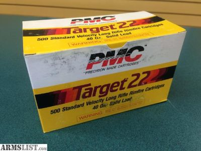 For Sale: PMC Target .22 LR 40 Grain 500 Standard Cartridges