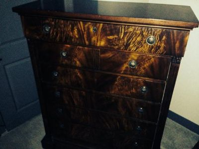$750, Solid Oak Haverty Collection Dresser