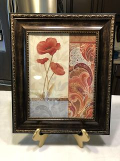 NWOT. Gorgeous Picture frame with shades of bronze, antique gold, reds, rust, blue, grey, greens and browns. 19.25 x 16.25