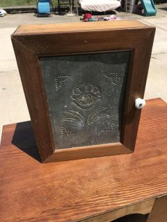 Antique Punched Tin Cabinet