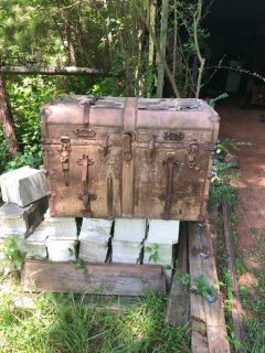 Beautiful antique trunk