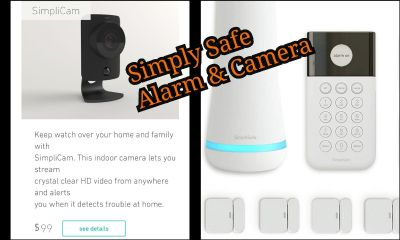 Simply safe Alarm system and security camera wifi app