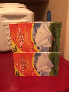 Dryer sheets. One unopened box plus small partial box
