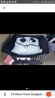 the nightmare before Christmas dog bed nwt