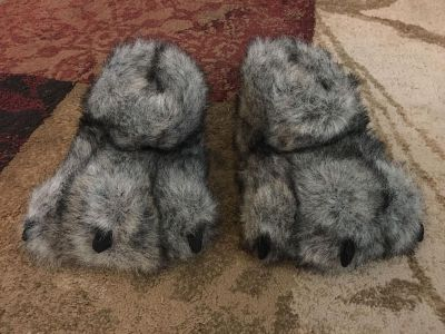 Wolf slippers - ppu (near old chemstrand & 29) or PU @ the Marcus Pointe Thrift Store (on W st)