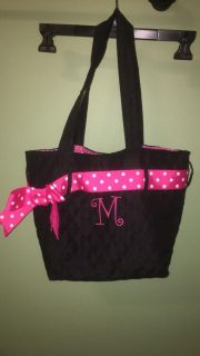 Quilted Initial Purse