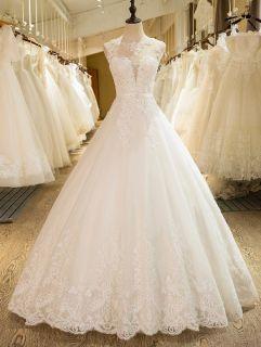 Vanessa's Lace A Line Wedding Dress Sizes 12 Ivory