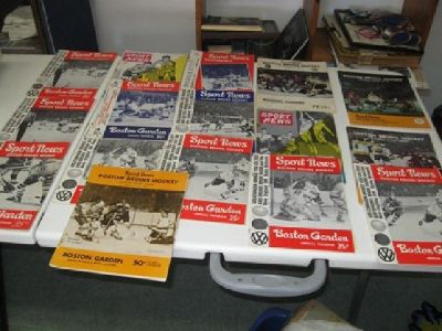 $10 Vintage Boston Garden Hockey Programs ~ 1940's thru 1970's