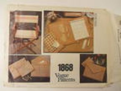 Vogue Sewing Pattern 1868 Desk Accessories, Organizer