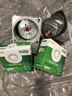 Free can lights and trim kit