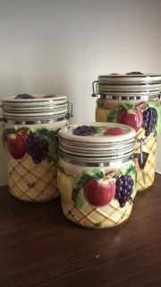 Canisters with fruit design