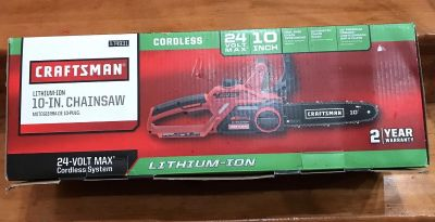 Craftsman 74931 24V Max 10 Electric Cordless Chainsaw