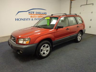 2004 Subaru Forester X (Cayenne Red Pearl/Text. Gray)