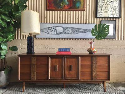 """Mid Century """"Mayan"""" Credenza / Dresser by Bassett"""