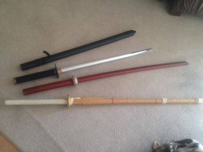 SWORD, BAMBOO STICK, WOOD PRACTICE SWORD