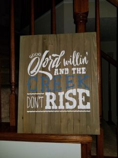 Wood sign - Rustic country theme