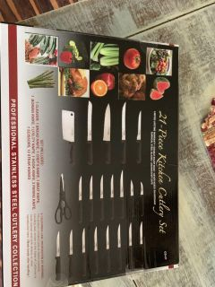 21 piece cutlery set new in box