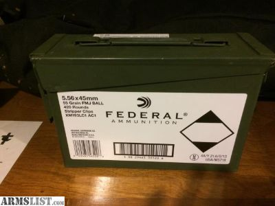 For Sale: Federal 5.56 ammo
