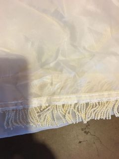 Off white scarf valance