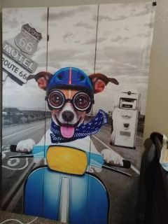 Route 66 Partition Canvass Chihuahua painting