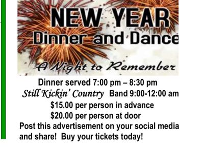 New Year s Eve dinner dance