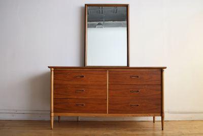 Mid Century Modern Lane Dresser and Mirror