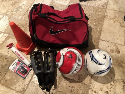 Soccer Training Duffle Bag & Related Items