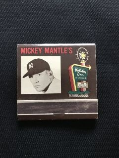 1960 Mickey Mantle Matchbook
