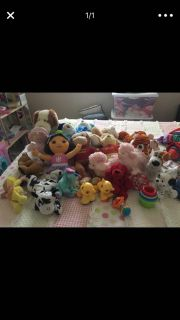 Assorted baby plush toys