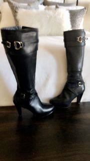 Cole Haan Nike Air Cara tall black leather boots 7 1/2B
