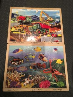 Large wooden puzzles