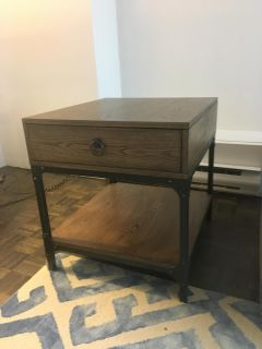 Transitional style furniture- end table