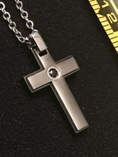 Cross with CZ Necklace