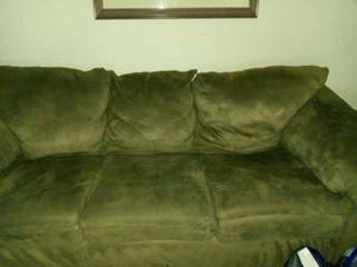 2pc suede couch set good condition