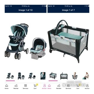 Graco's Comfy Cruiser Click Connect Travel System, Stratus,