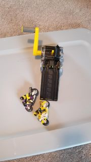 Remote control toys and hand crank motorcycles