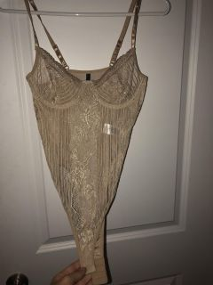Nude body suit size small