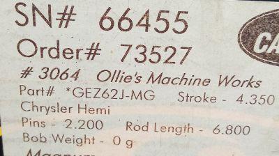 Callies Magnum XL Crank for Hemi or Big Block Chrysler. NIB