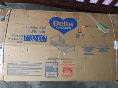 Brand new in box toddler bed