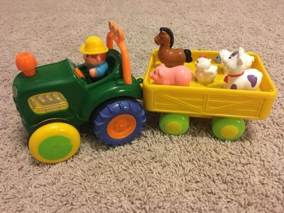 Tractor & Trailer with Farmer & Animals