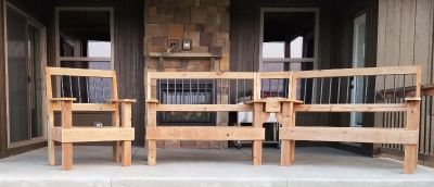 Handcrafted Wooden Patio Furniture