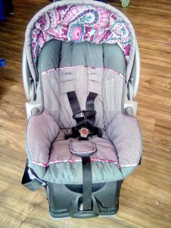 Baby Girl Carseat with Base
