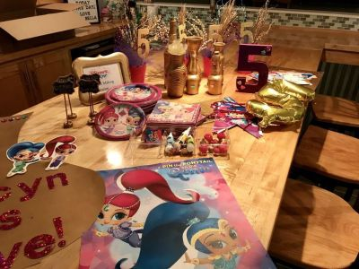 Shimmer and shine party lot