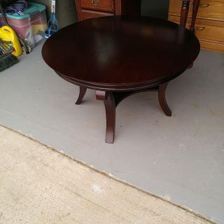 Bombay Coffee Table. Has some wear. 36 round. Height 20