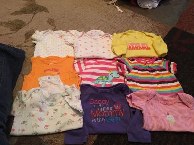 Lot of 9 carters 12m onesies - ppu (near old chemstrand & 29) or PU @ the Marcus Pointe Thrift Store (on W st)