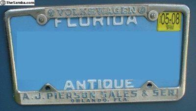 [WTB] A. J Pierson License Plate Frame Orlando, Fl