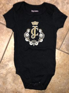 Juicy Couture Black Playsuit Onesie. Like New Condition. Size 6-9 Months