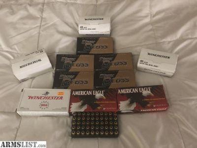 For Trade: FMJ 45 acp ammo