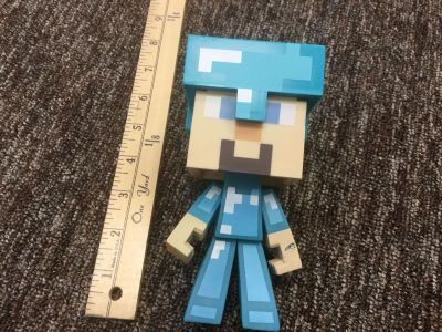 Scroll right for second photo, LARGE Minecraft figure with removable helmet. About 7 inches tall. $2.00