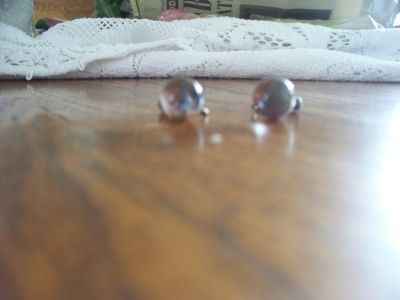 CRYSTAL BALL RING EARINGS (STERLING SILVER RING)